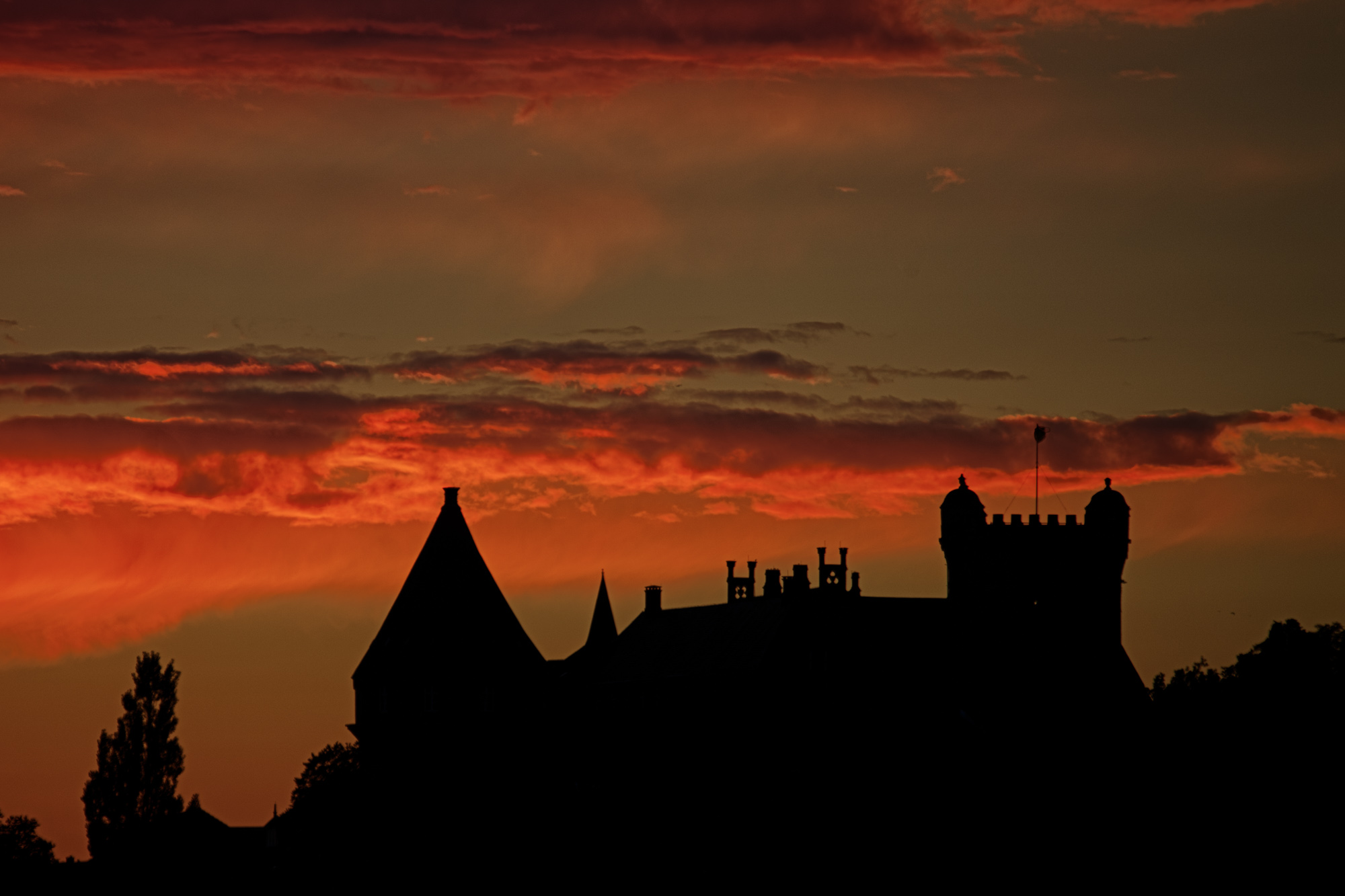 Sunset over Bentheim Castle
