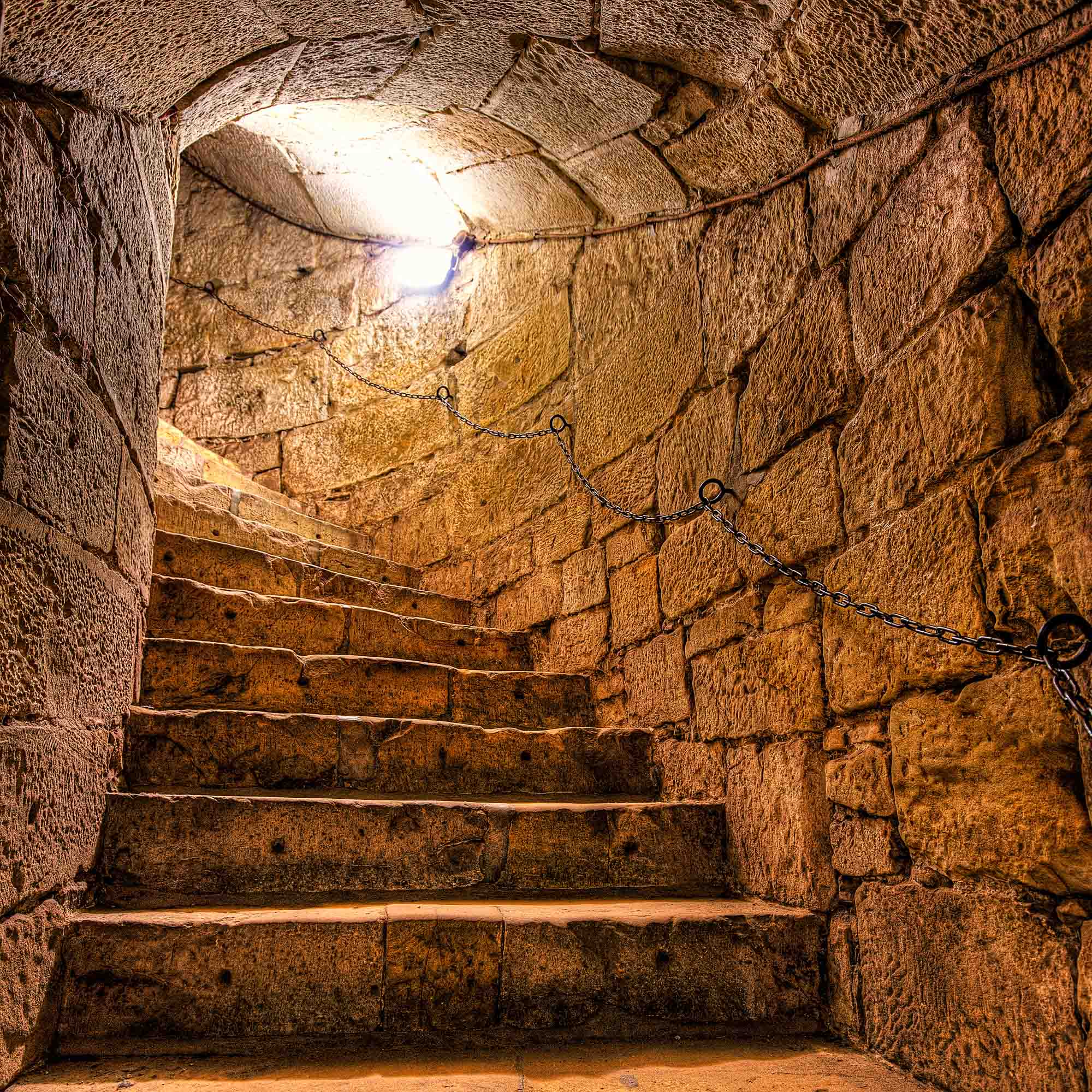 Dungeon stairs in Bentheim Castle