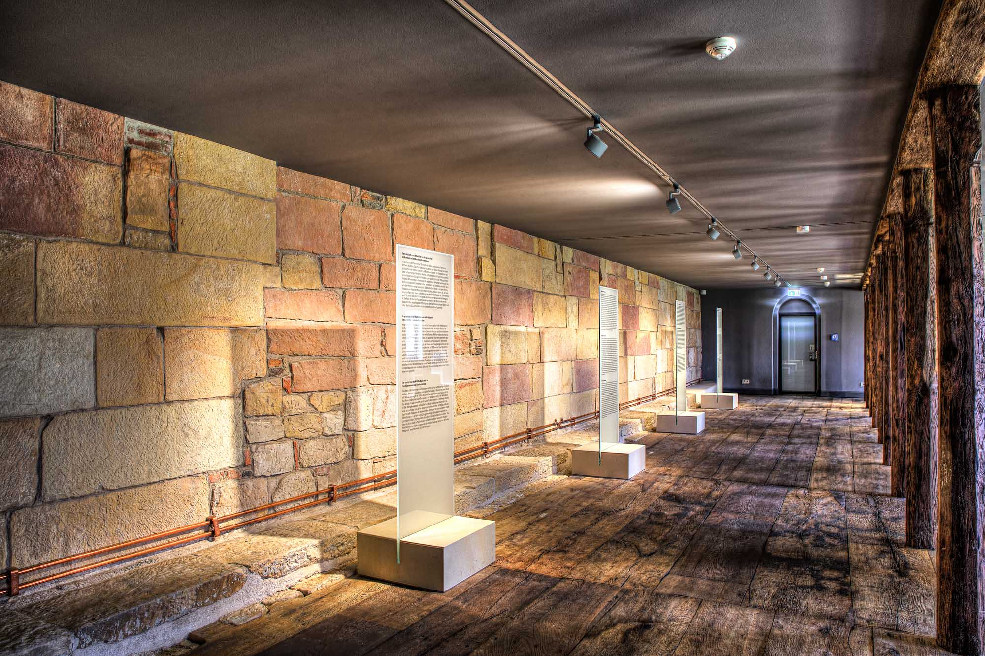 Bentheim sandstone explained at the museum