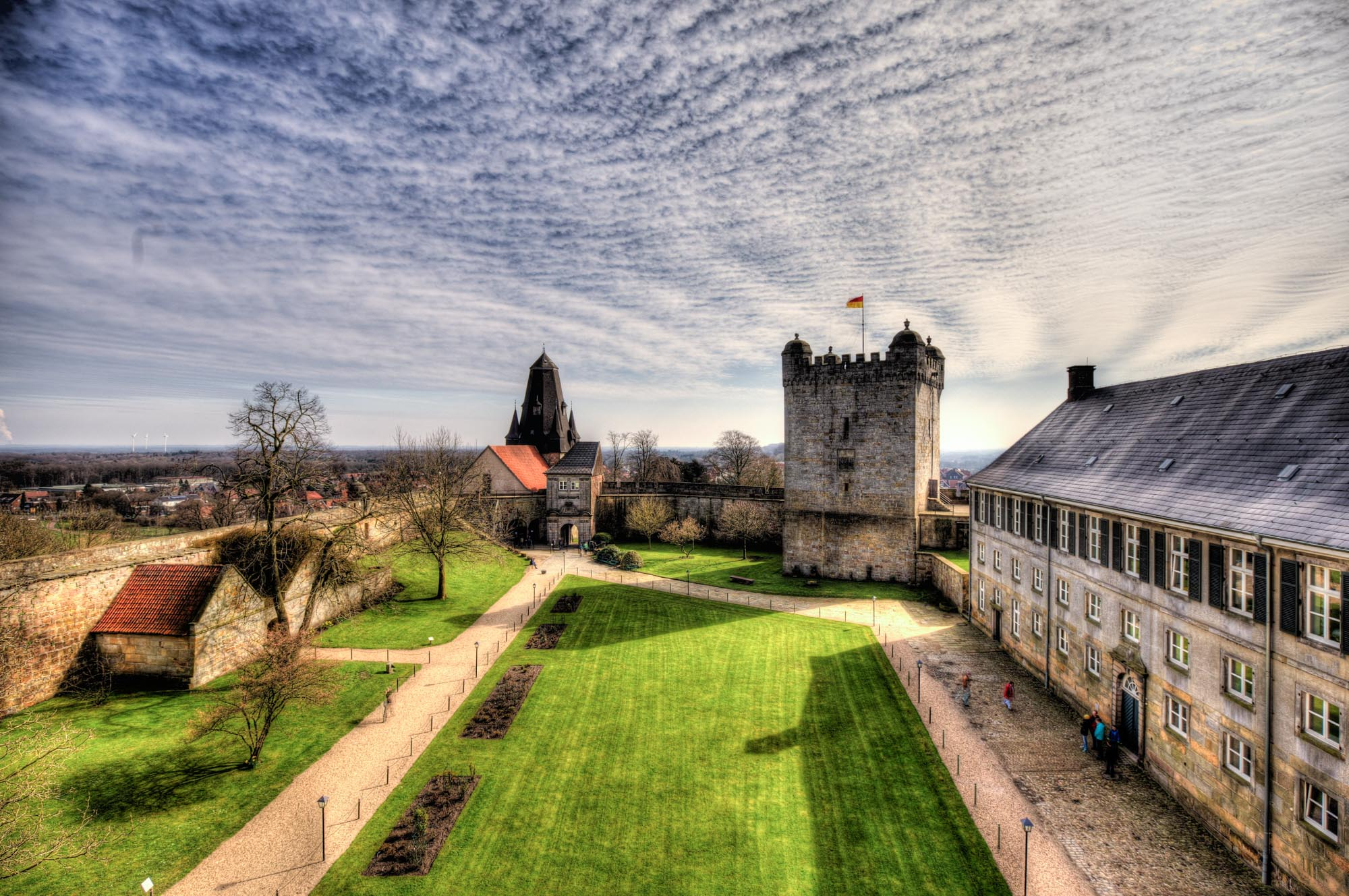 Inner courtyard of Bentheim Castle