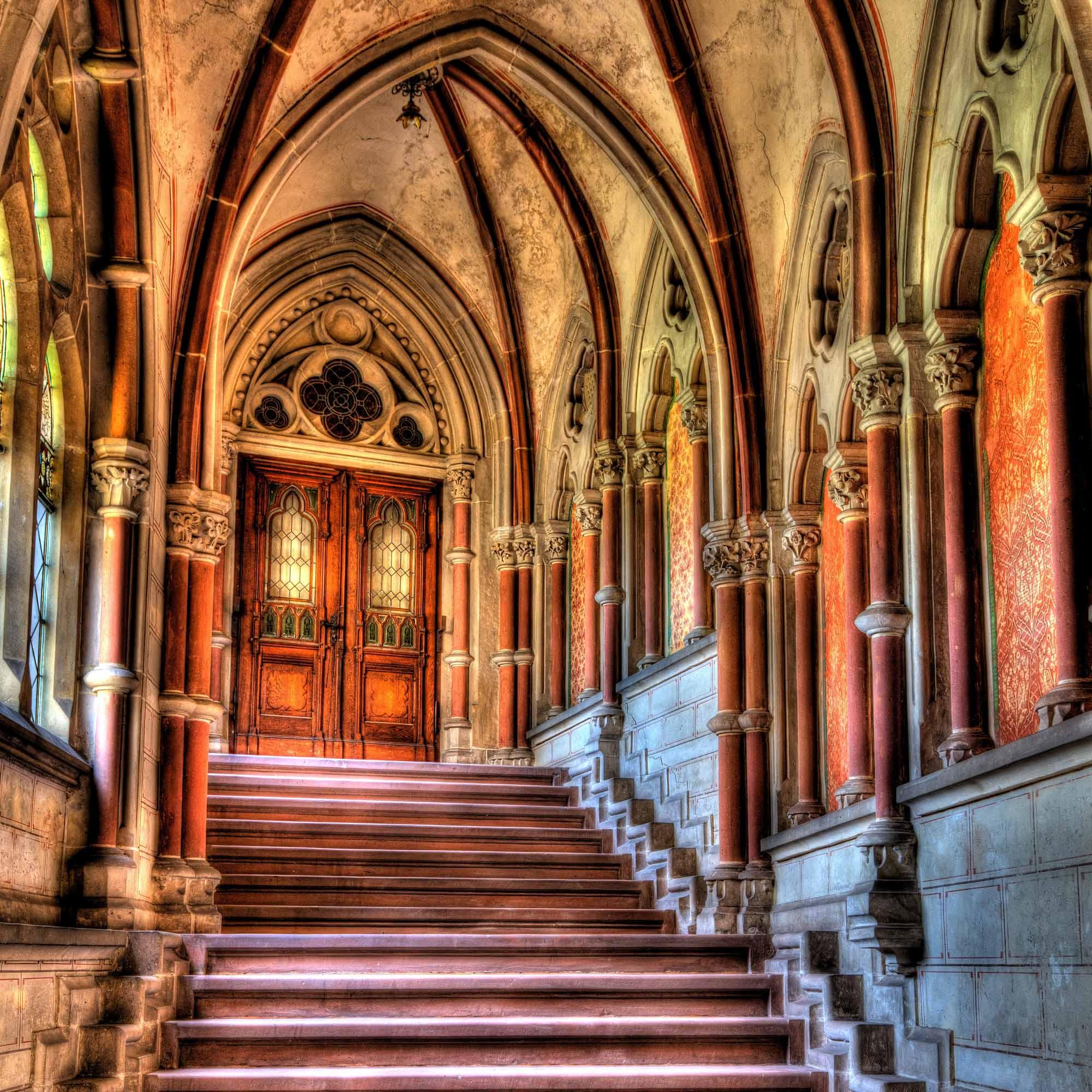 Interior stairs at Bentheim Castle