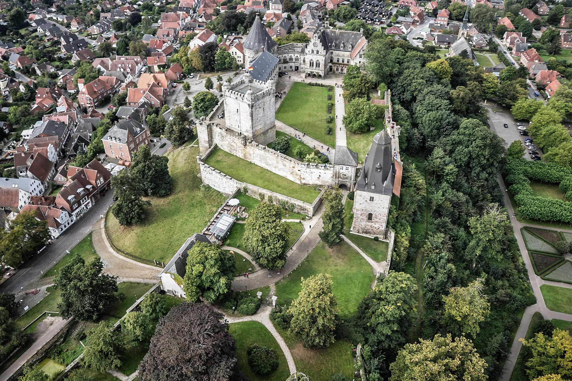 Aerial view of Bentheim Castle